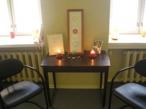 Hingamisstuudio teraapiaruum altariga