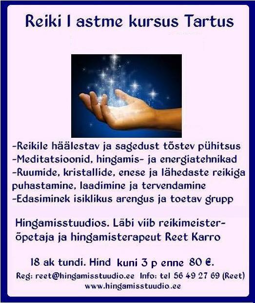 tartu-reiki-kooli-reiki I-astme-kursuse-poster