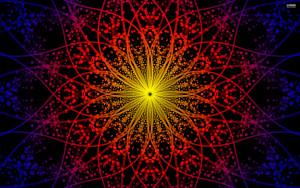 A fractal flower