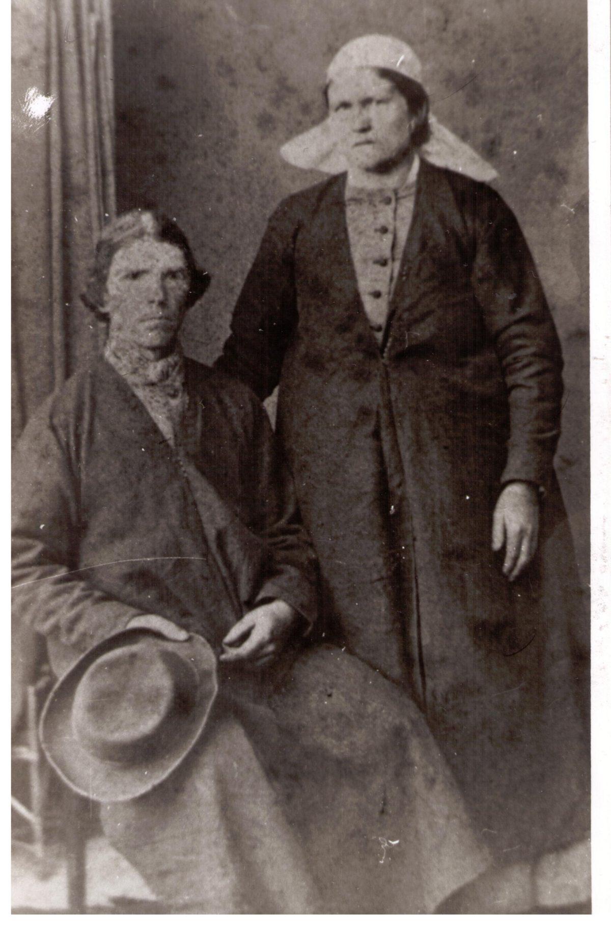 Karl Tamberg naise Kerdiga 1870. aastatel
